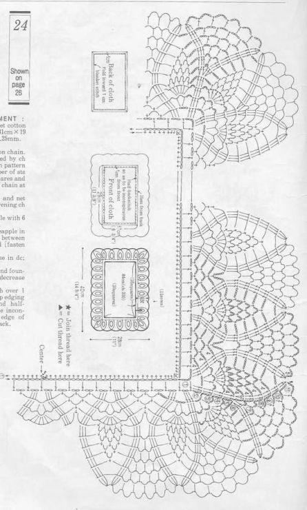 oval crochet doily diagram crochet pinterest