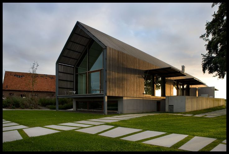 The Barn House - Belgium, with external sunshades to the south.