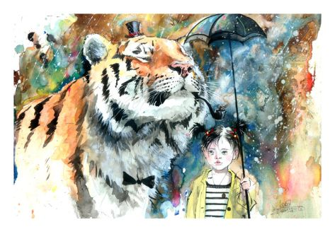 Mr Tiger by Lora Zombie. Giclee print from Jaime Derringer's Inspiring Insider galleries on Art.com.