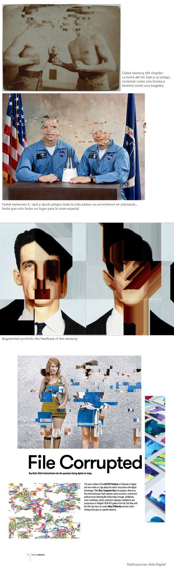"""Artista David Szauder (conocido - Pixel Noizz) combina técnicas digitales con fotografías para indagar en los rincones de la memoria donde las ideas y los recuerdos se fragmentan. """"Failed Memories"""", explora la """"naturaleza imperfecta de la memoria"""", la que coarta la imagen clara de los pensamientos que generamos."""
