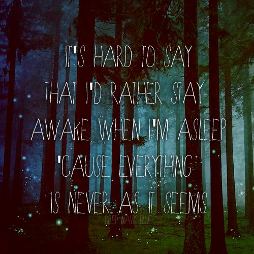 Owl City - Fireflies  Because it reminds me of our first time in Switzerland.