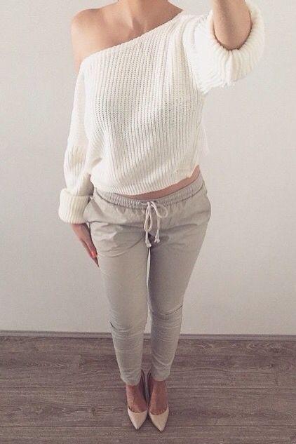 Essa calça e blusas largas