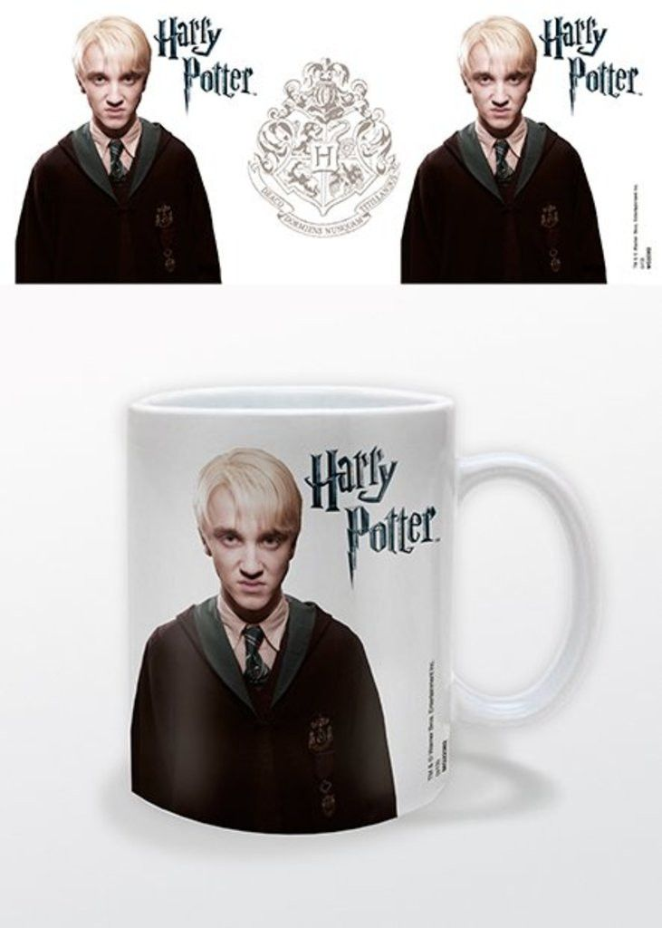 Harry Potter - Draco Malfoy - Ceramic Coffee Mug. Dishwasher and microwave safe. Capacity: ca 11oz. Official Merchandise. FREE SHIPPING