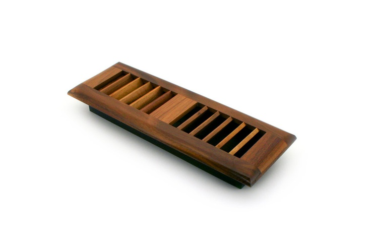 """Self Rimming wood vents also know as """"drop in"""" vents, sit above the surface of your hardwood flooring"""