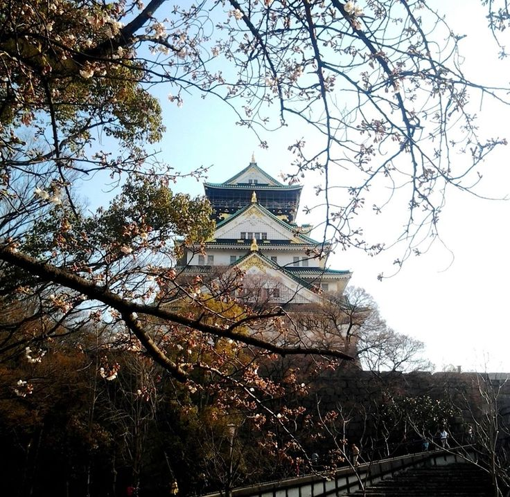 "– Mika no sekai - Japan (@mika_no_sekai) na Instagrame: ""Osaka castle is the symbol of Osaka. The main tower of Osaka Castle is situated on a plot of land…"""