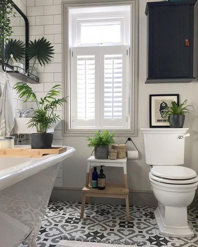 Love The Roll Top Bath Classic Style Toilet Taps Flusher The Floor Tiles Stool Steps Mirror And All The House Bathroom Interior Home Decor Bathroom Decor
