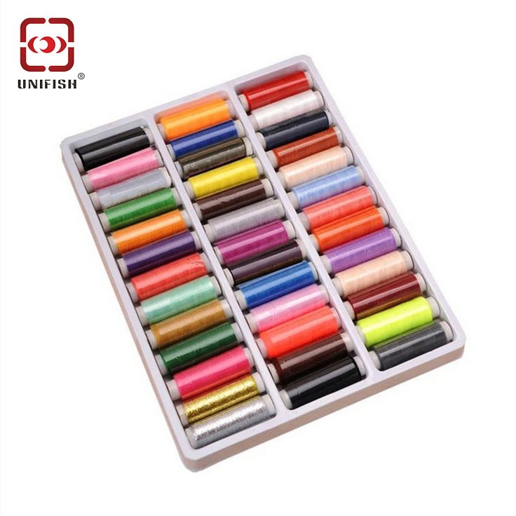 Find More Sewing Threads Information about UNIFISH 39 Color Ployester Sewing Thread Hand Stitching Sewing Box Cross stitch Embroidery Threads Sewing Machine Line ,High Quality thread micrometer,China line office Suppliers, Cheap line long from UniFish Flagship Store on Aliexpress.com