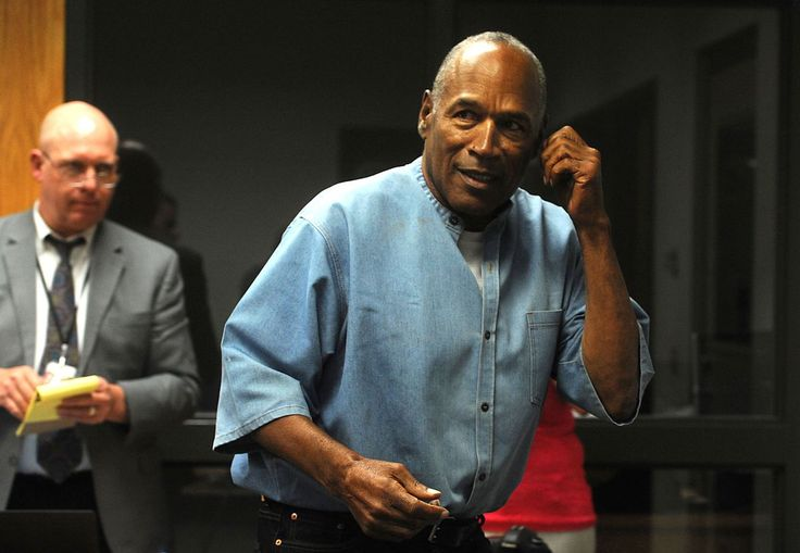 Las Vegas (AP) -- Former football legend O.J. Simpson became a free man again Sunday after serving nine years for a botched hotel-room heist in Las Vegas that brought the conviction and prison time he avoided in the killings of his wife and her friend after his 1995 acquittal.