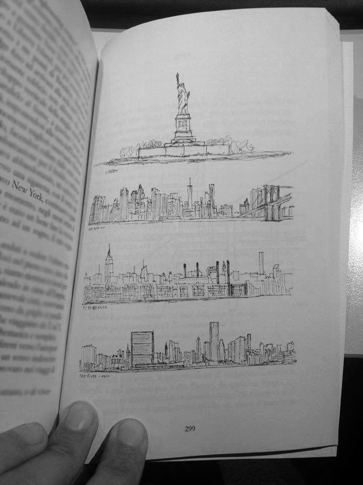 """I want to wake up, in a city that never sleeps"" - Frank Sinatra  #newyork #franksinatra #architecture #libertyisland #skyline #travel #sketch #larchitettononserve Visualizza traduzione"