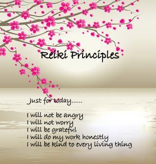 Reiki principles - similar to Don Miguel Ruiz' Four Agreements somehow . . . Happy Easter to all!