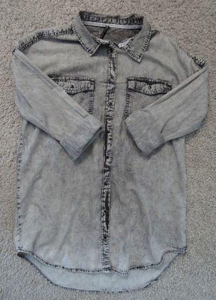 Kup mój przedmiot na #vintedpl http://www.vinted.pl/damska-odziez/koszule/17837468-marmurkowa-koszula-jeansowa-oversize-boyfriend