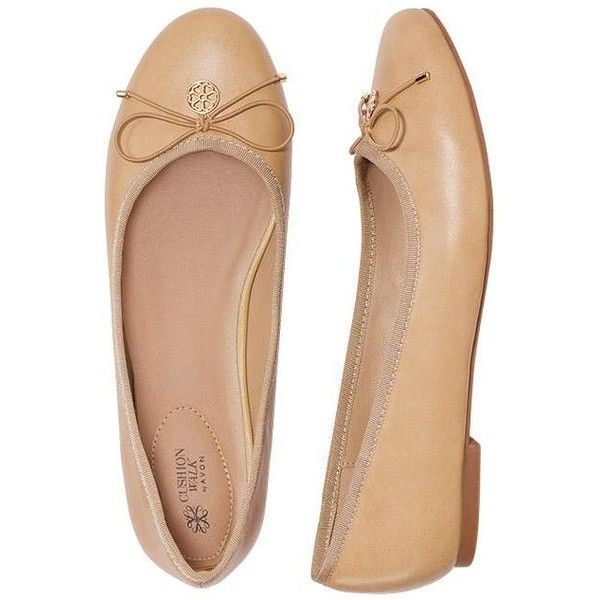 Cushion Walk Neutral Ballet Flats by AVON (80 PEN) ❤ liked on Polyvore featuring shoes, flats, ballet pumps, skimmer flats, ballerina pumps, ballerina shoes and ballet flats