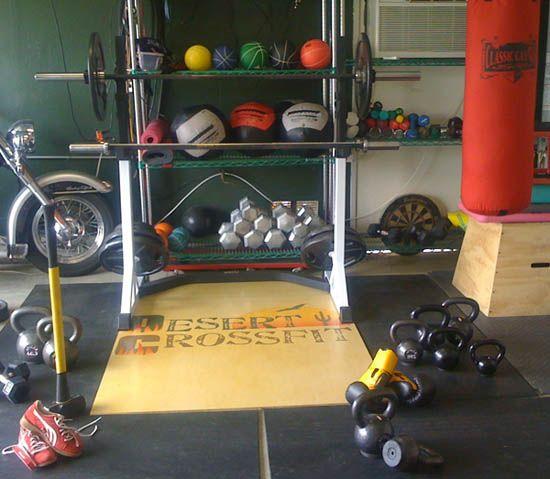 Good pic of basics for a garage gym the hub s