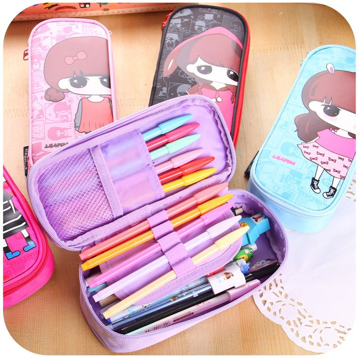 Cute Girl Coded lock Pen Pencil Case Box Stationary Pouch Bag Oxford Makeup Bags-in Storage Bags from Home & Garden on Aliexpress.com | Alibaba Group