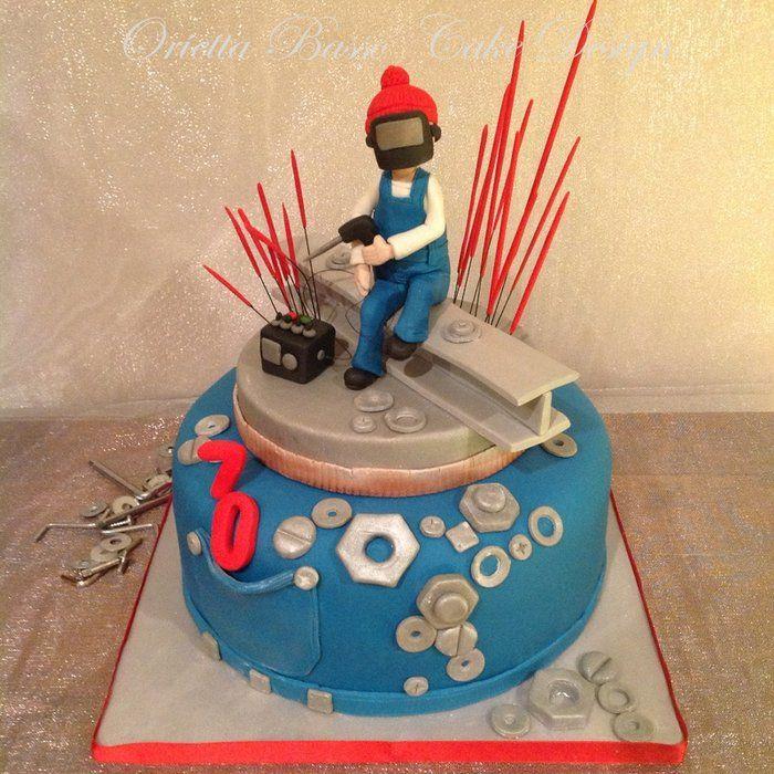 The Welder By Oriettabasso Cakesdecor Com Cake Decorating Website