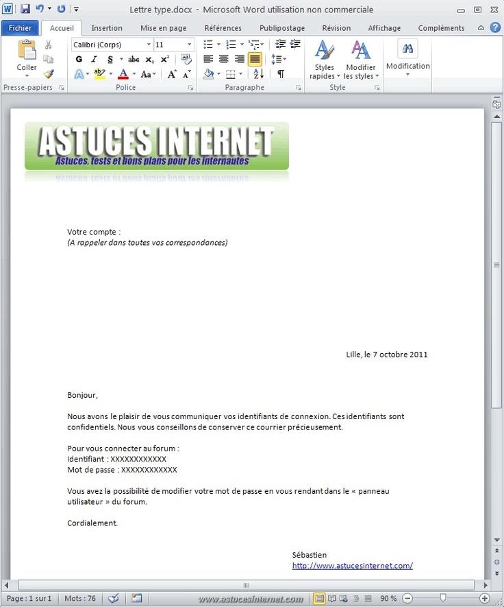 Créer un publipostage avec Word 2010 - Bureautique - Articles : Astuces-Internet
