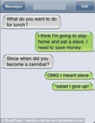 Text message fail!