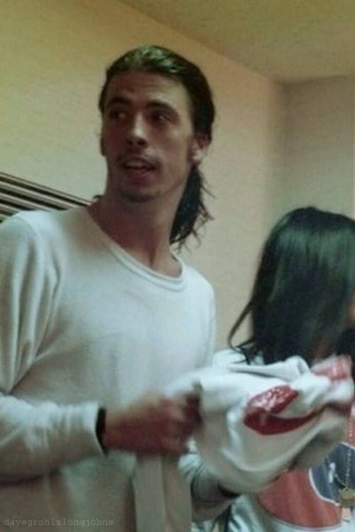 Dave Grohl. pony tail