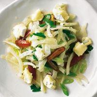 Fenchel Dattel Salat mit Schimmelkäse