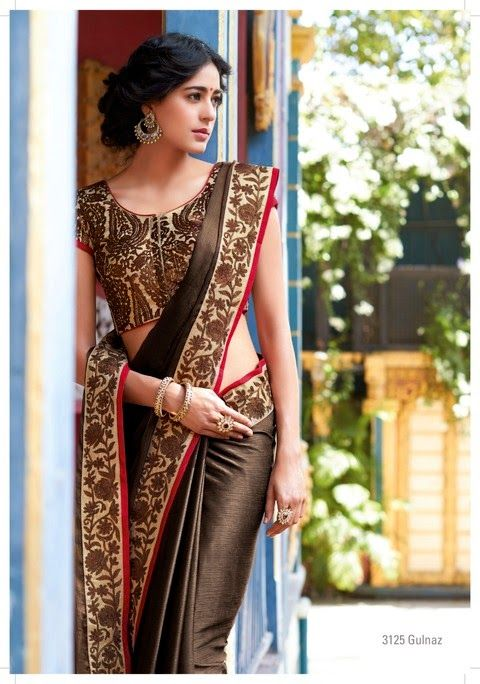 Eye Waer Trends 2015 | Newest Winter Wear Indian Sarees Collection 2015 for Young Girls by ...