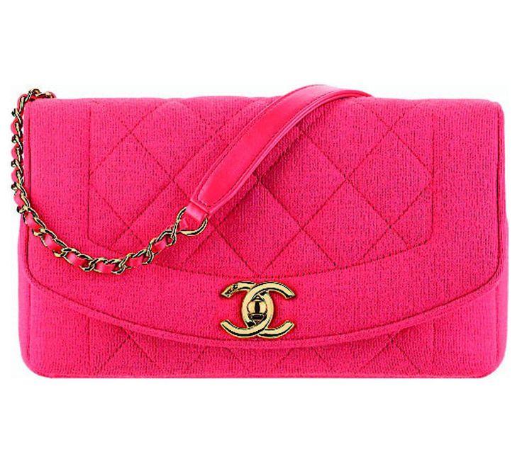 Koralrød jerseytaske fra Chanel, 15.700 kr.