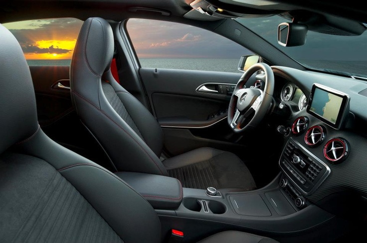 The new A-Class - Interior. Fuel consumption combined: 6,4-3,6 l/100km, CO2 emissions combined: 148-92 g/km. #MBCars