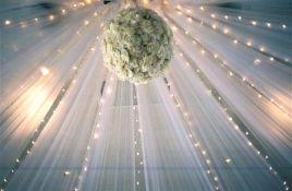 Tulle Ceiling Decorations - Wedding Supplies, Tulle, Lights, Ribbon, Decorations, DIY Craft Supplies - http://www.yourweddingcompany.com