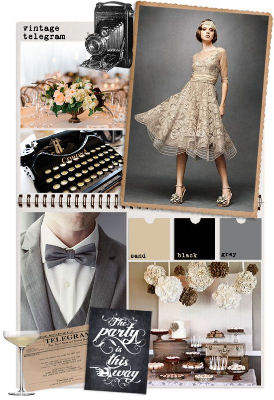 vintage telegram : back to the 1920s for a little more vintage wedding inspiration