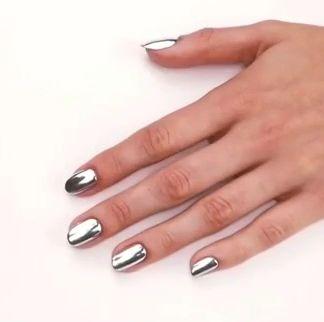Metallic Mirror Effect Nail Polish – Nail Art Designs Winter