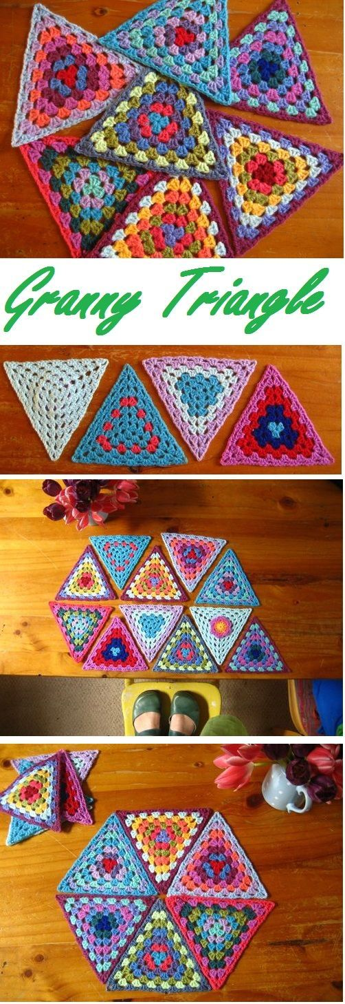 crochet granny triangle