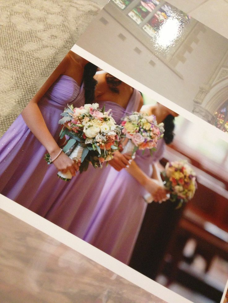 Bridesmaid bouquets lilac vintage by ze photography
