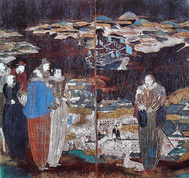 """16th-17th century Japanese painting, reproduction in Arnold Toynbee, """"A study of history"""""""