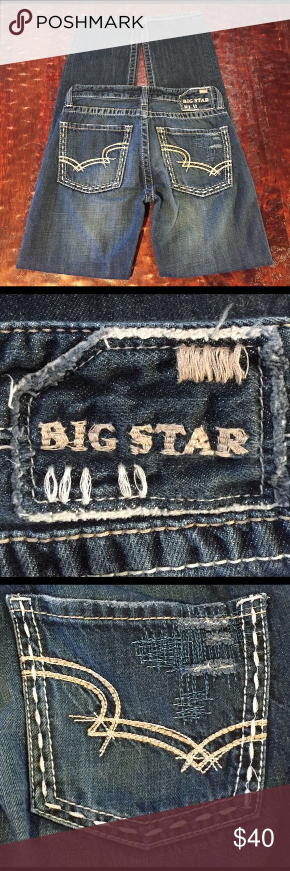 """Big Star Dylan Boyfriend Fit Jean Size 25L Big Star Dylan Boyfriend Fit Jean Size 25L. Jean has a 30"""" inseam. Jean is in excellent condition with no signs of wear. Comes from a Smoke Free/Pet Friendly home. Offers always welcome. Big Star Jeans Boyfriend"""