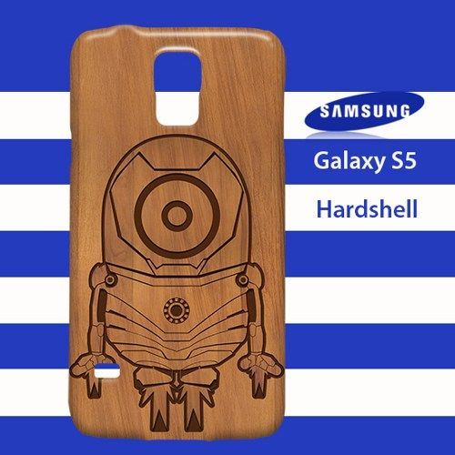 Minion Iron Man Wood Samsung Galaxy S5