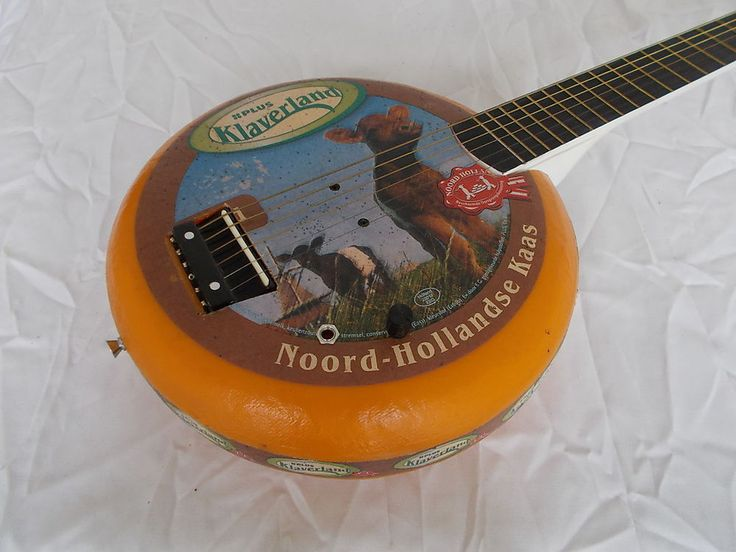 Dutch cheese guitar with amp, canjo, cigarbox, electro-acoustic, kaasgitaar. For the most cheesy sound ever: Dutch cheeseguitar homemade from a plastic display cheese and the neck of a silent guitar. | eBay!