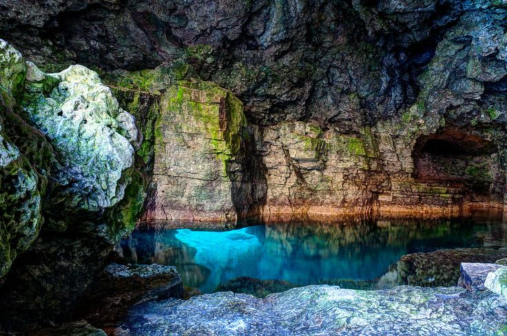 Inside The Grotto. Cyprus Lake Park. The Grotto. Northern Bruce Peninsula, Ontario, Canada-Ron Clifford