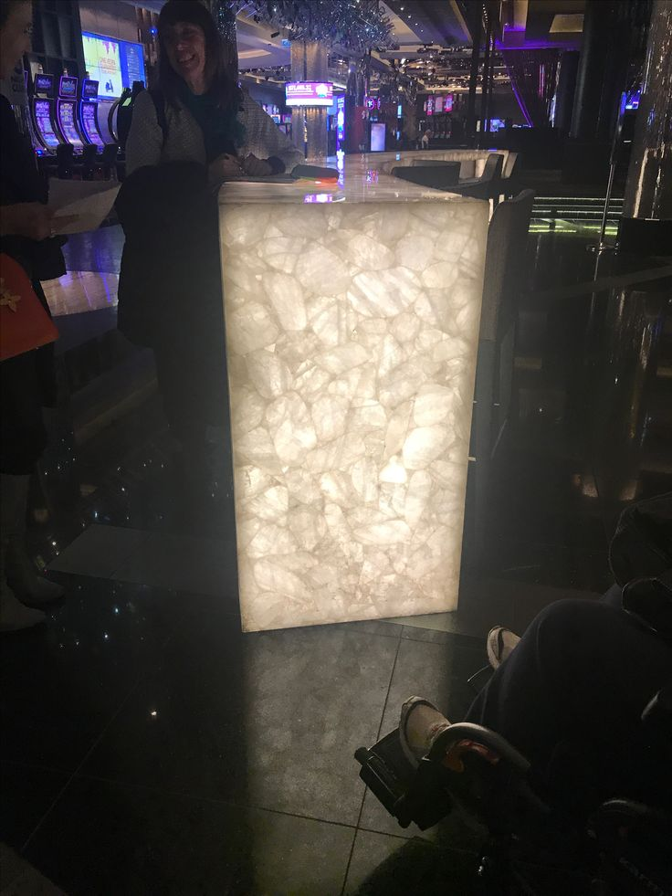 This naturally translucent back lit onyx bar in crown casino is very eye catching and is definately a stand out in the space.