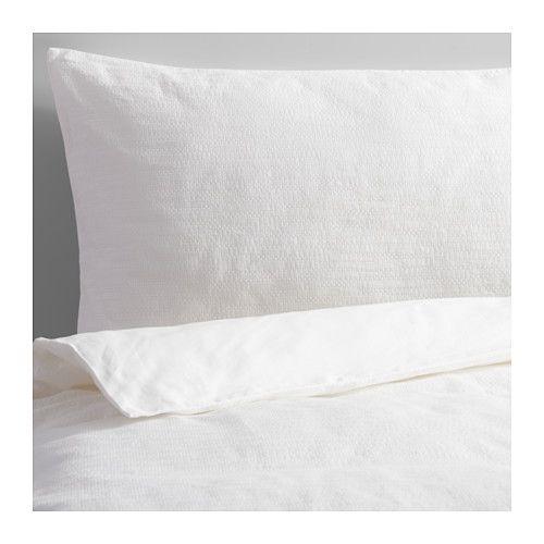 IKEA - GULLKORNELL, Housse de couette et taie, 150x200/50x60 cm, , Le coton est doux et agréable contre la peau.La fermeture à glissière maintient la couette bien en place.Vous pouvez facilement changer le décor de votre chambre avec ce couvre-lit réversible aux motifs différents.
