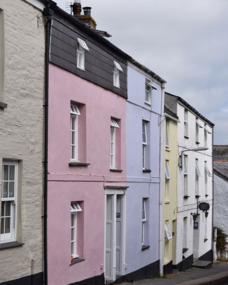Pretty pastel cottages in Padstow Cornwall