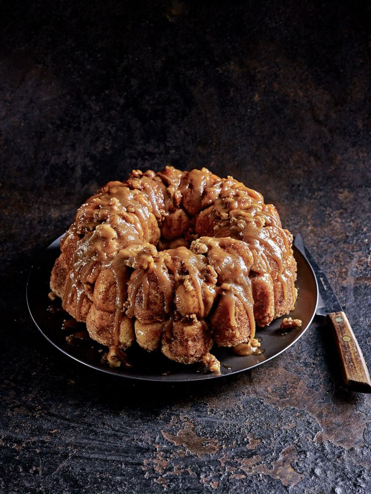 "Ever wondered ""what is monkey bread?"". Well, now you can try it yourself by making this monkey bread recipe from scratch, complete with a sticky bourbon sauce."