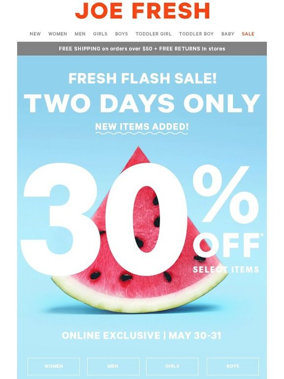 This sweet sale won't last long! - Joe Fresh