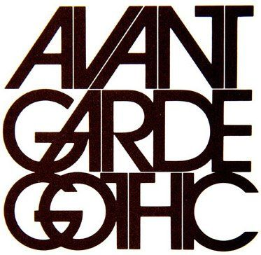 Herb Lubalin, 1970s, Avant Garde, magazine title, for which Lubalin designed his ITC Avant Garde typeface. This distinctive font could be described as a post-modern interpretation of art deco, and its influence can be seen in logos created in the 1990s and 2000s. (TK)