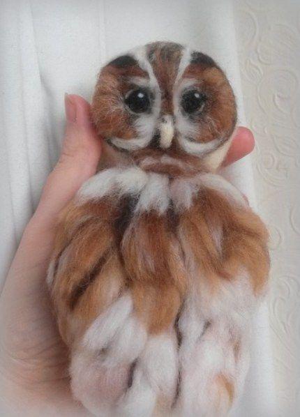 Needle felted owl tutorial.