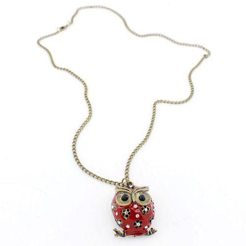 Aus der Kategorie Halsketten  gibt es, zum Preis von EUR 1,73  <b>* TOOGOO ist ein eingetragenes Markenzeichen. Nur TOOGOO autorisierte Verkaeufer duerfen unter TOOGOO-Listing verkaufen.</b> <br />TOOGOO(R) Elegante rote Harz funkelnden Kristall Eule Anhaenger lange Halskette Schmuck.<br />Halskette *Eule -Anhaenger*<br