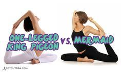 These lookalike poses have unique details making them distinct from the other. Here is the difference between Mermaid Pose and One-Legged King Pigeon Pose.
