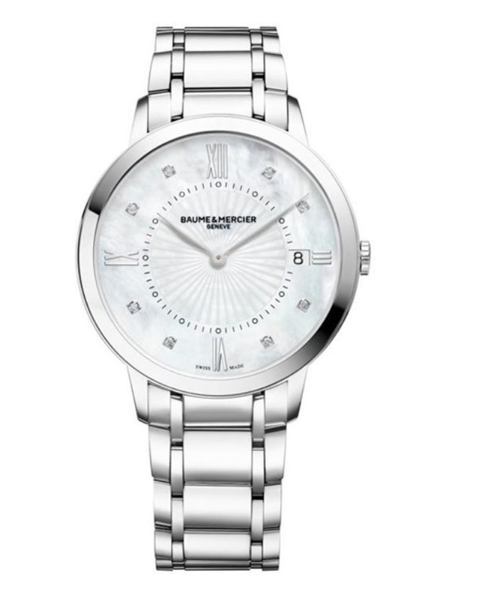 Model:Classima Lady Quartz Ref. M0A10225 Movement:Quartz Gender:Female Complications:Date, Minute Hand, Hour Hand Shape:Round Case Material:Stainless Steel Dail colour:Mother of Pearl with Diamond Hourmarkers Size:36.50 mm Material:Stainless Steel Price:€ 2 100 @colmanwatches