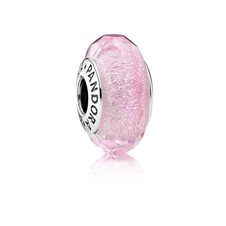 Pink Shimmer Murano Charm - Pandora UK | PANDORA eSTORE