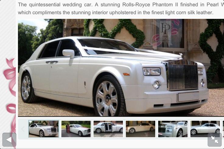 Rolls Royce phantom wedding car!!