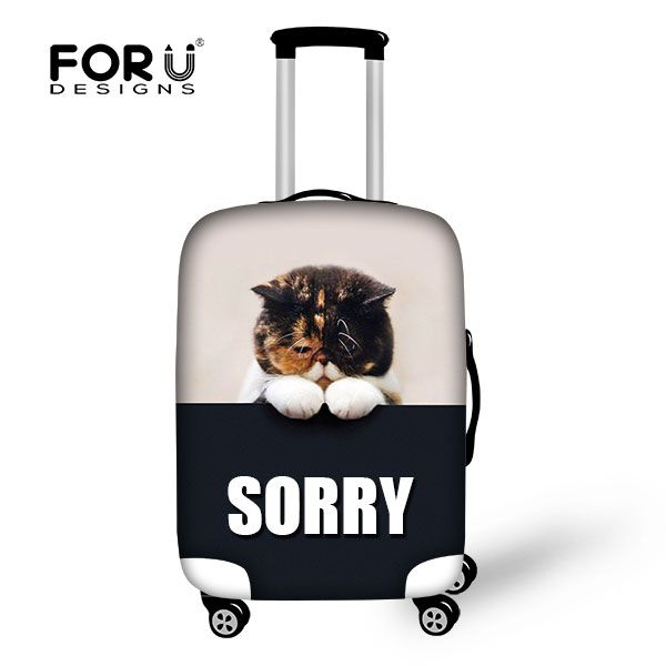 Cute Persian Cats Printing Luggage Protectors Beautician For Suitcase Protective Covers Outdoor Luggage Travelling Accessories