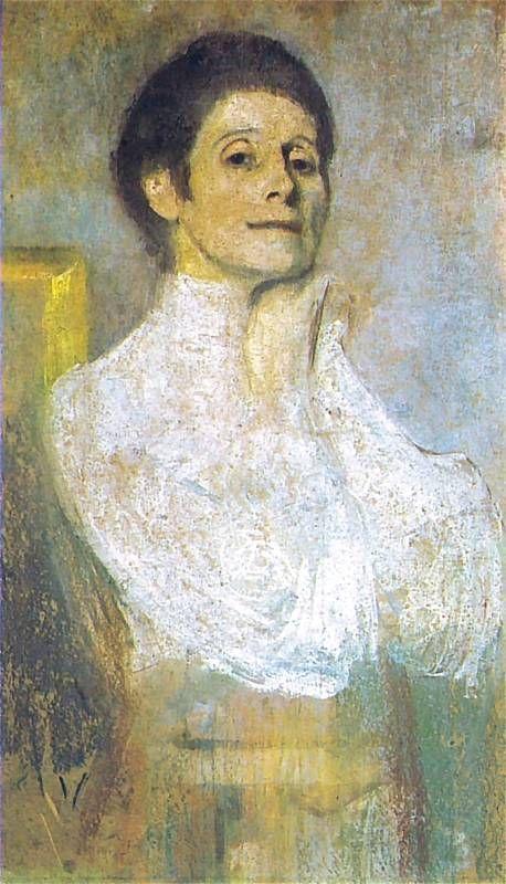Self Portrait, 1906 by Olga Boznańska (Polish, 1865-1940)